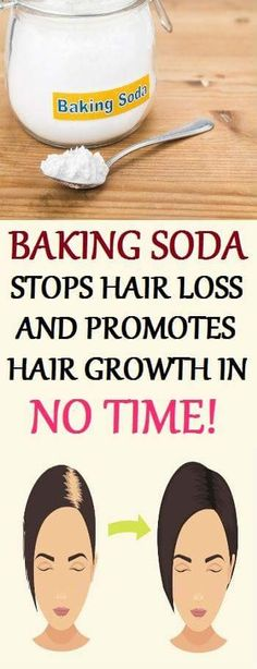Baking soda is effective against hair loss, it also promotes hair growth.