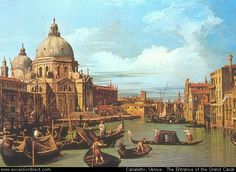 Canaletto Venice: The Entrance of the Grand Canal. #art #painting #canaletto