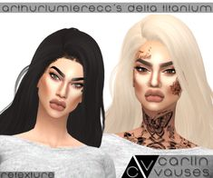 """carlinvauses: """" Hair Retexture : ArthurLumiereCC's Delta Titanium (Newsea Edit) • hair texture by me • comes in 30 natural colours • colour actions by @simlishsweetie • you need the original mesh by..."""