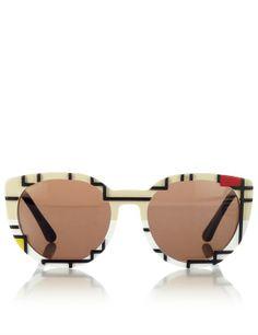 Cutler and Gross Mondrian cat-eye sunglasses, $575