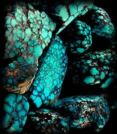 Quality spiderweb turquoise  in the rough - it has become very hard to find and we have created a great educational presentation on this rare phenomenon in nature.