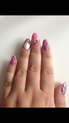 Funky Nail Design And Love The Ring Pretty Nails Pinterest