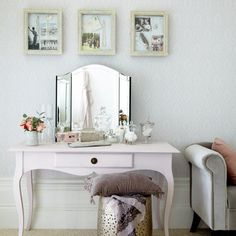 Bedroom dressing area from Living Etc Bedroom Dressing Table, Dressing Table Design, Dressing Area, Table Dressing, Traditional Dressing Tables, Traditional Bedroom, Home Design Decor, Interior Design, House Rooms