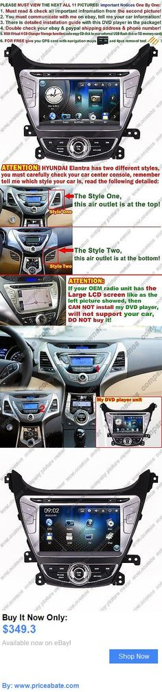 Car Audio Video And GPS: For Hyundai Elantra Car Dvd Player Gps Navigation Stereo Radio Audio Video Unit BUY IT NOW ONLY: $349.3 #priceabateCarAudioVideoAndGPS OR #priceabate