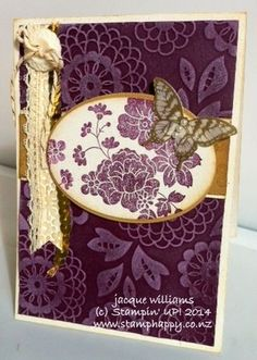 Hello, Darling Vintage Card in two colours!Tauranga Extravaganza Project ParadeBig Shot Bundle Promotion!Smile