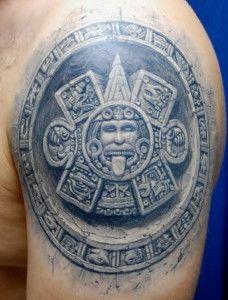 aztec tribal tattoo ideas for men