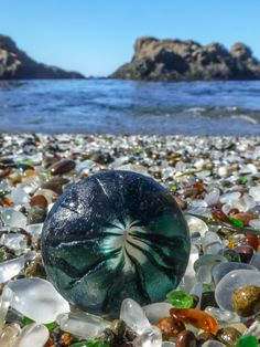 "$40  11x14"" print, author of ""The Sea Glass Rush"", bevjacquemet@gmail.com ~ A Sea Glass Alien Visits Glass Beach ~"