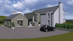 Exterior movie of our house type House Designs Ireland, Cottage Extension, Modern Farmhouse Plans, House Extensions, Home Design Plans, House Layouts, Types Of Houses, Building A House, New Homes