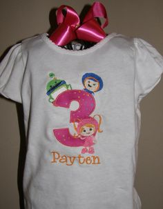 Team Umizoomi birthday shirt and hair bow by SweetBellaz on Etsy, $22.00