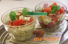 Салат с макаронами и моцареллой