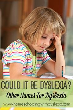 Dyslexia in Disguise: Other Names for Dyslexia - Homeschooling with Dyslexia. Repinned by SOS Inc. Resources pinterest.com/sostherapy/.