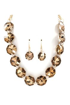 Elodie Necklace Set in Champagne