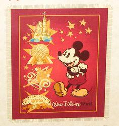 Disney Throw Blanket - Four Parks Mickey Mouse
