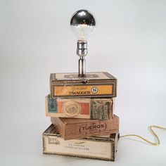 Cigar Box #Lamp | Dog Tag Designs | Made in NY