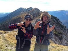 Lauren Eng '16, and Tom Wheeler '16, studying abroad at the Danish Institute of Study Abroad in Copenhagen, Denmark, summitted the second highest peak in the Piatra Craiului Mountains of Transylvania, Romania.