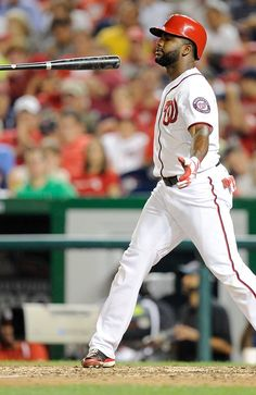 Denard Span #2 of the Washington Nationals on August 6, 2013 in Washington, DC. (Photo by Greg Fiume/Getty Images)