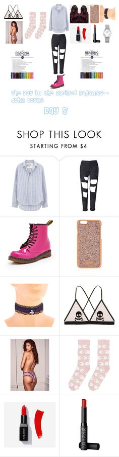 """""""The Boy in the Striped Pajamas"""" by cassieee-m ❤ liked on Polyvore featuring Frank & Eileen, Dr. Martens, Henri Bendel, Victoria's Secret, Accessorize, NARS Cosmetics and Longines"""