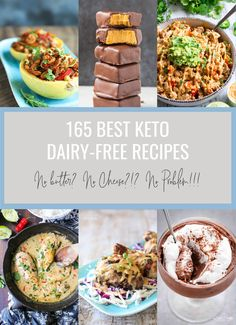 The 165 Best Keto Dairy Free Recipes we could find online for your dairy free low carb diet!