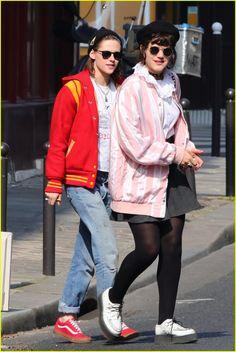 Kristen Stewart & Rumored Girlfriend Soko Match in Bright Jackets