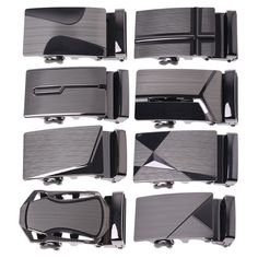 1pcs Fashion US Alloy Steel Metal Waist Solid Belt Buckle Tan SKUA44