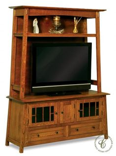 Put in place this contemporary-mission open style Alaterre TV Stand with Hutch and keep your finger on the pulse of quality family entertainment.