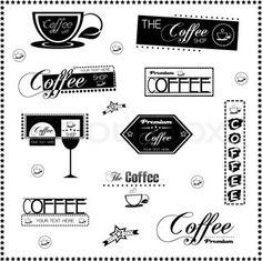 """Buy the royalty-free Stock vector """"Set Of Vintage Retro Coffee Labels On Chalkboard ."""" online ✓ All rights included ✓ High resolution vector file for pr. Chalkboard Vector, Premium Coffee, Printable Labels, Coffee Shop, Coffee Labels, Retro Vintage, Art, Stall Signs, Chalkboards"""