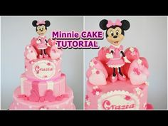 MINNIE cake fondant tutorial - torta topolina in pasta di zucchero - YouTube