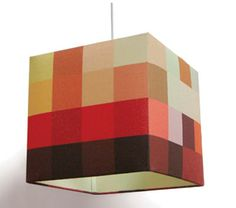 Siam textured brown square lamp shade 11x11x95 spider style idea to diy similar to a patchwork or quilt style lampshade position large squares on your diy panel lampshade to create a pixel like effetc aloadofball Gallery