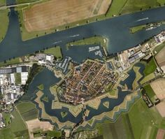 Heusden, the Netherlands, with a fortification built during the Eighty Years War, between 1579 and 1597