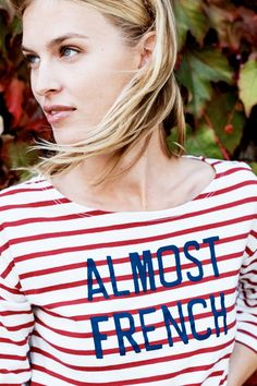 Sundry Striped Almost French Tee Awesome Shirts, Cool Shirts, Lisa Ellis, Beautiful Dresses, Nice Dresses, Fasion, Fashion Outfits, Fashion Beauty, Fashion Looks