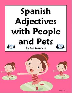 Students practice agreement in number and gender of people and pet nouns such as lady, gentleman, teacher, dog, etc. and descriptive adjectives with this 18 question worksheet. They are also instructed to write a Spanish adjective under each picture shown. The answer key is included.
