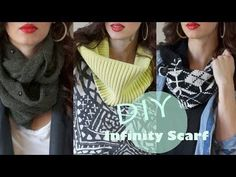 ▶ EASY DIY Infinity Scarf!!! (NO SEW) - YouTube