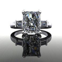 Forever Brilliant Moissanite Engagement Ring Radiant Cut 3.25 CTW – Bel Viaggio Designs, LLC