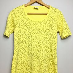 Vintage 90's T-shirt Dress Yellow Floral Cotton Knit Comfy Spring Small #VintageCotton #ShirtDress #Casual Yellow Fabric, Vintage Cotton, Yellow Dress, Shirt Dress, T Shirt, Comfy, Knitting, Ebay Clothing, Floral