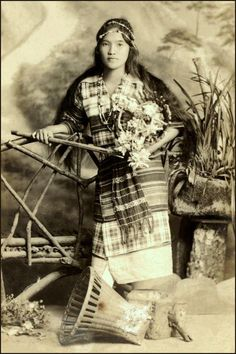 Filipino Ibaloy woman from the Benguet Province.