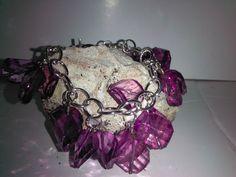 Purple Bracelet by Vondivadesignz1 on Etsy, $15.00
