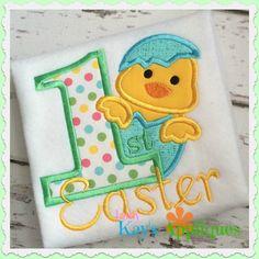 Baby Kay's Appliques - 1st Easter Chick Boy 4x4, 5x7, 6x10, 8x8, $4.00 (http://www.babykaysappliques.com/1st-easter-chick-boy-4x4-5x7-6x10-8x8/)