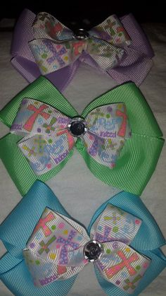 He Is Risen Easter Bow by GumpiegirlsGifts on Etsy