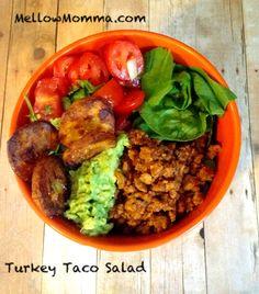 Turkey Taco Salad #Mellowmomma
