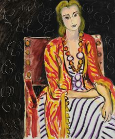 View Femme assise sur fond noir by Henri Matisse on artnet. Browse upcoming and past auction lots by Henri Matisse. Henri Matisse, Matisse Art, Raoul Dufy, Post Impressionism, Impressionist Art, Pablo Picasso, Matisse Pinturas, André Derain, Matisse Paintings