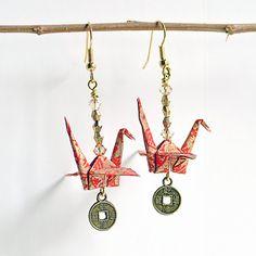 Gifts for FriendsRed EarringsHandmade by LittleBirdDePapel on Etsy