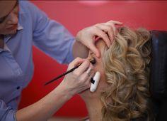 Makeup before the session is preparing Kamila Jastrzębska.