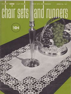 Chair Sets And Runners Clark's 261 Crochet Patterns 1949 Gingham Arm Placemat #Clarks