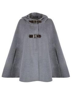 f0a590d5c0 Women s Wool Blend Hooded Cape Cloak Coat
