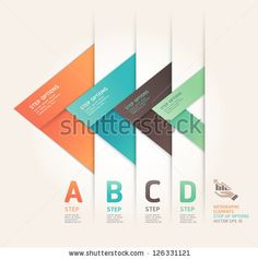 Modern arrow origami style step up options banner. Vector illustration. can be…