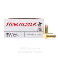 Winchester 40 cal Ammo - 500 Rounds of 165 Grain FMJ Ammunition #40Cal #40CalAmmo #Winchester #WinchesterAmmo #Winchester40Cal #FMJ