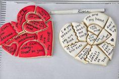 Valentines Baking, Valentines Day Cookies, My Funny Valentine, Royal Icing Cookies, Cake Cookies, Sugar Cookies, Cookies Et Biscuits, Cupcakes, Heart Cookies