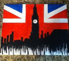 London/Big Ben Acrylic Painting  by Hannah Wilson
