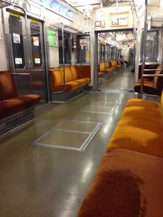 Almost completely alone in an empty train car, heading from Yokohama to Shibuya.