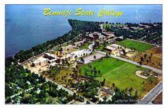 BEMIDJI MN 1969 Aerial View Bemidji State College